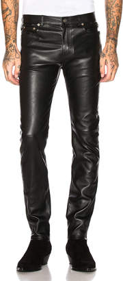 Saint Laurent Leather Skinny Jeans
