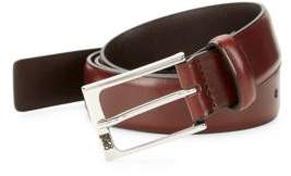 Roberto Cavalli Square Buckle Leather Belt