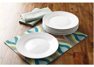 Better Homes & Gardens Better Homes and Gardens Round Porcelain Dinner Plates, Set of 6