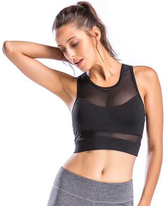 Möve With You Women's High Impact Support Crop Tank Tops Yoga Sports Bra (, S)