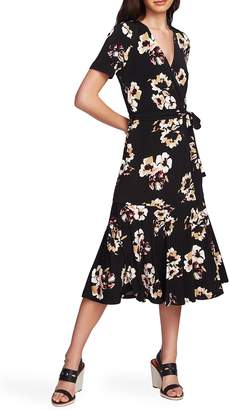 1 STATE 1.STATE Floral Mirage Wrap Front Dress