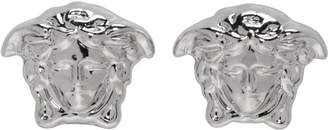 Versace Silver Mini Medusa Earrings