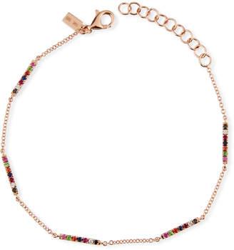 Ef Collection 14k Rose Gold Rainbow Bar Bracelet
