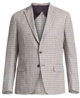 Saks Fifth Avenue COLLECTION Houndstooth Plaid Sportcoat