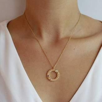 Wanderlust Emily Mortimer Jewellery Gold Multicolour Gemstone Necklace