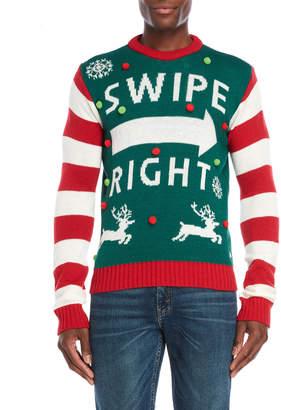 American Stitch Swipe Right Ugly Christmas Sweater