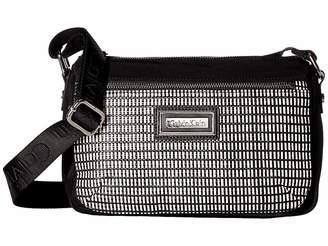 Calvin Klein Belfast Key Item Raffia Top Zip Crossbody Cross Body Handbags 23df225722