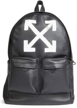 Off-White Brushed Leather Arrows Backpack