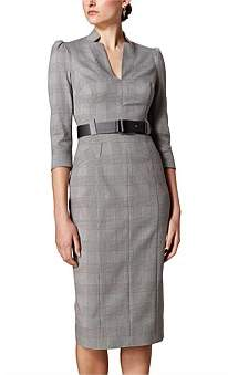 Karen Millen Checked Forever Dress