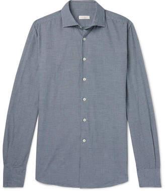 Incotex Ween Slim-Fit Cutaway-Collar Checked Cotton Shirt