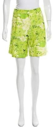 Tibi Printed Knee-Length Shorts