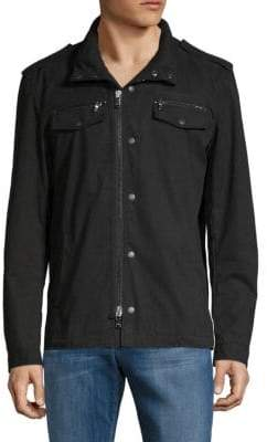 John Varvatos Front Zip Hooded Shirt