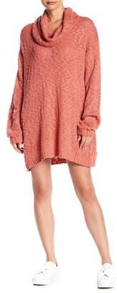 Somedays Lovin Fading Light Cowl Neck Sweater Dress