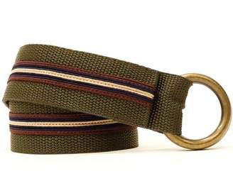 Blade + Blue Olive & Burgundy Stripe Belt by One Magnificent Beast
