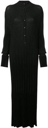 Carolina Herrera ribbed slim fit maxi dress