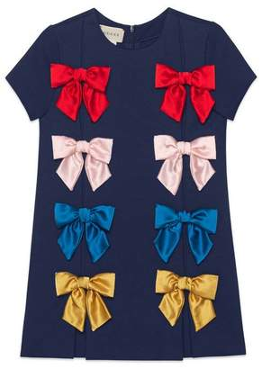 Gucci Children's viscose dress with bows