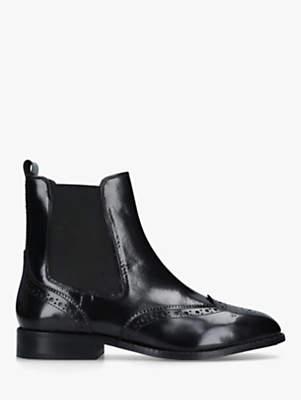 Carvela Comfort Rhea Block Heel Ankle Boots, Black Leather