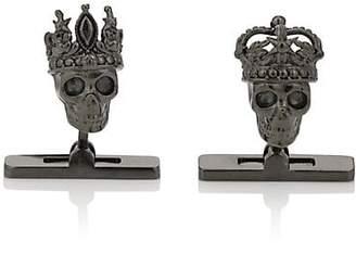 Alexander McQueen Men's King & Queen Skull Cufflinks - Silver