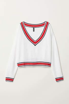 H&M V-neck Sweater - White