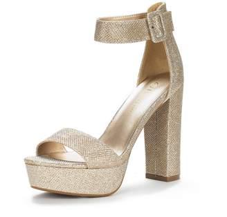 DREAM PAIRS HI-LO Women's Evening Dress High Chunky Platform Heel Open Toe Ankle Strap Stiletto Wedding Pumps Sandals Size 11