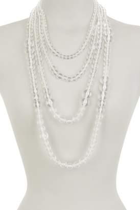 Natasha Accessories Layer Lucite Necklace