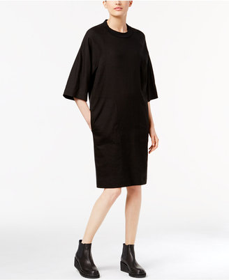 DKNY Mixed-Media T-Shirt Dress $249 thestylecure.com