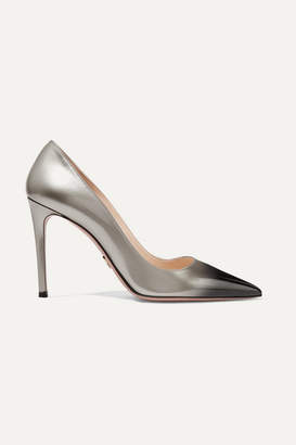 Prada Ombré Patent-leather Pumps - Silver