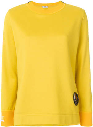 Fendi logo long-sleeve sweater