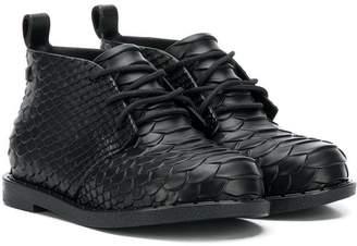 Mini Melissa snake embossed ankle boots