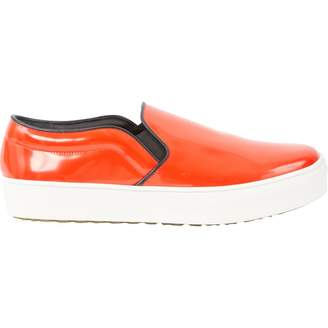 Celine Red Leather Flats