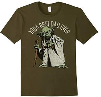 Star Wars Yoda Best Dad Ever Graphic T-Shirt