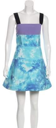 Fausto Puglisi Silk-Trimmed Neoprene Dress