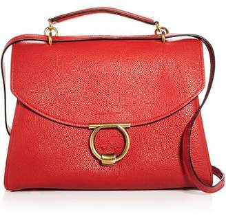 Salvatore Ferragamo Margot Medium Leather Shoulder Bag
