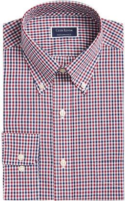 Club Room Men Classic/Regular Fit Gingham Check Performance Dress Shirt