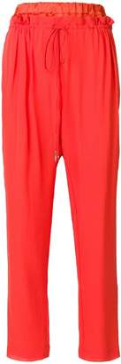 Roberto Cavalli layered drawstring waist trousers