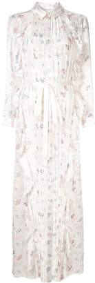 Huishan Zhang floral print pearl maxi dress