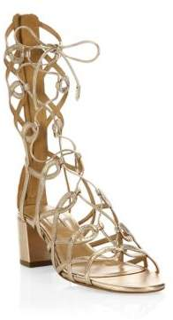 Aquazzura Mumbai Leather Gladiator Sandals