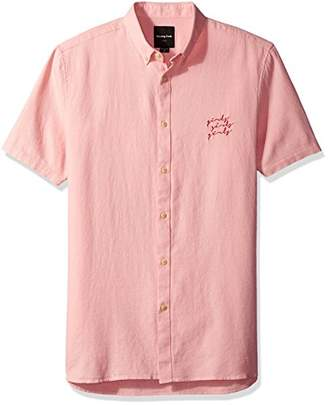 Barney Cools Men's Short Sleeve Button-up Shirt