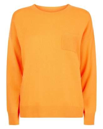 Jaeger Cashmere Boxy Pocket Sweater