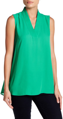 Chaus Sleeveless Stitch Blouse $59 thestylecure.com
