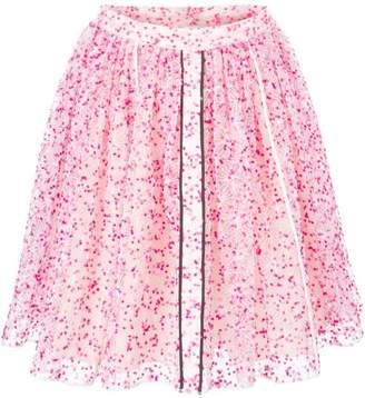 Fendi sheer floral skirt