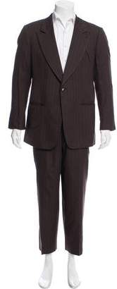 Giorgio Armani Pinstriped Wool Suit