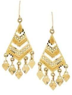 Lord & Taylor 14K Yellow Gold Chandelier Earrings