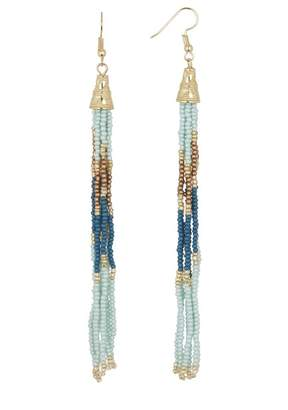 Leslie Danzis Seed Beaded Fringe Earrings