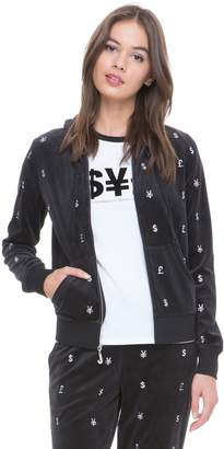 Juicy Couture Velour World Currency Robertson Jacket