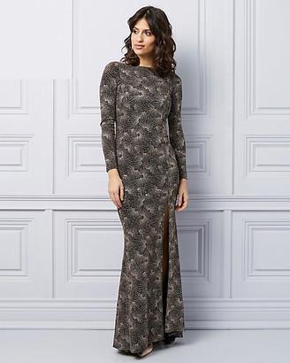 Le Château Sparkle Knit V-Back Gown