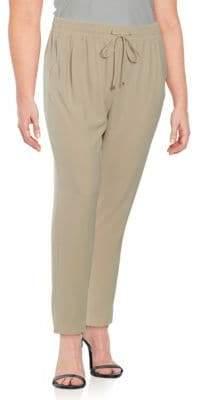 Calvin Klein Plus Staight-Leg Drawstring Dress Pants