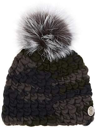 Mischa Lampert Women's Pomster Fur-Embellished Wool Beanie