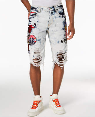 Heritage American Men's Nba Patch Denim Shorts