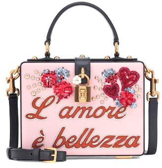 Dolce & Gabbana Dolce Box L'Amore leather shoulder bag